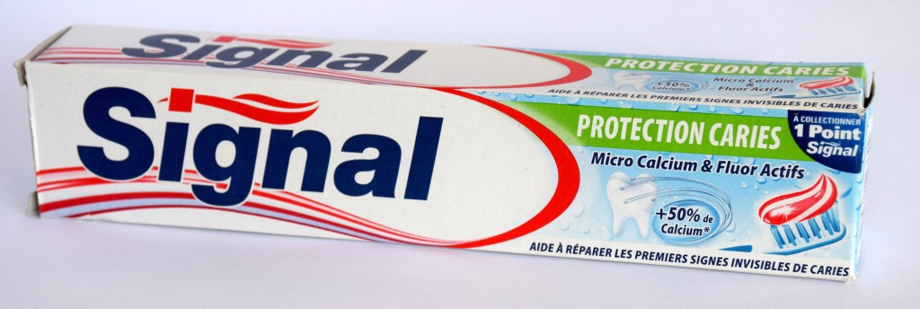 Dentifrice Signal protection caries carton