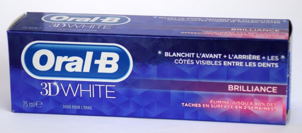 Dentifrice Oral-B 3D white brillance carton
