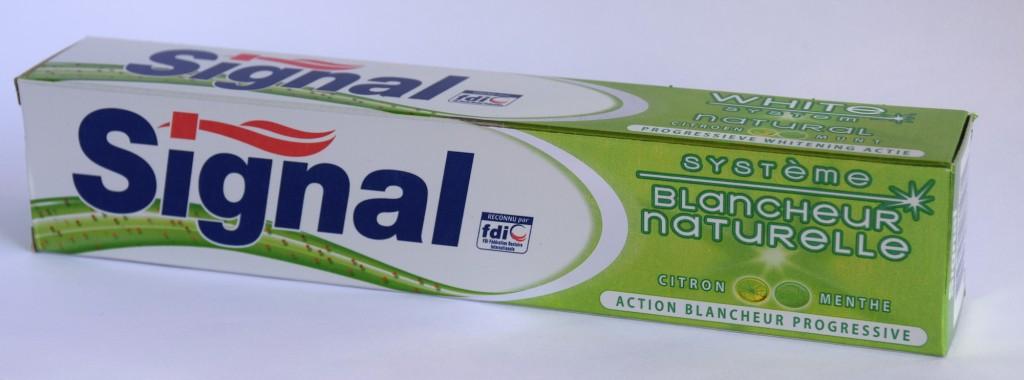 Dentifrice Signal blancheur naturelle carton
