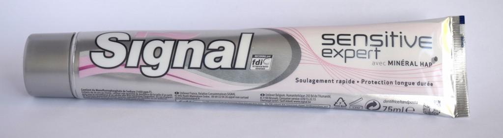 Dentifrice Signal sensitive expert tube