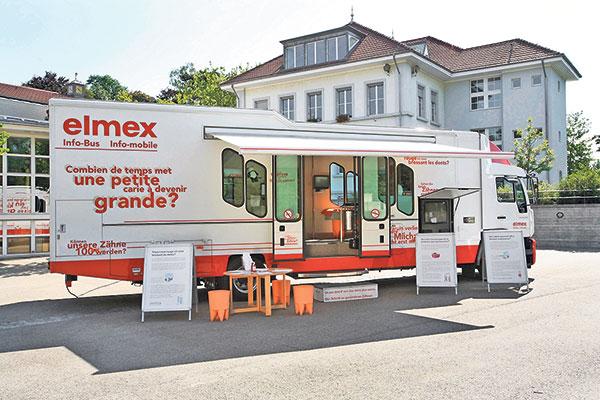 Elmex info bus Dentifrice