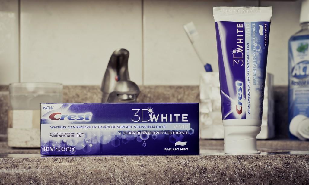 PG amende Crest 3D White Dentifrice