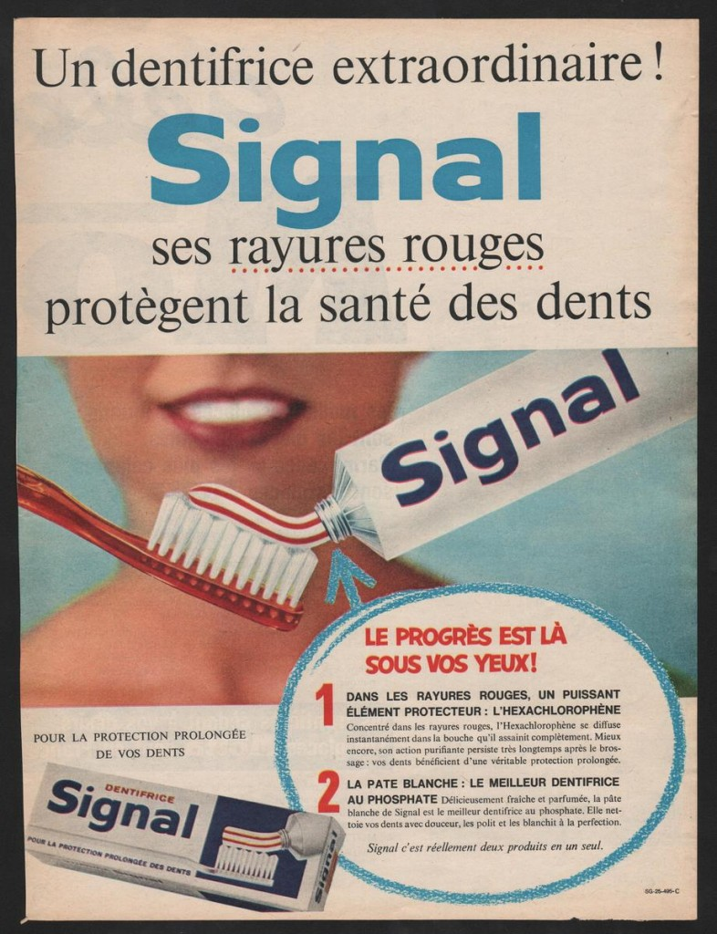 Signal pub années 60 Dentifrice