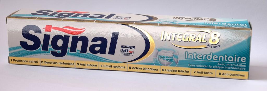 Dentifrice Signal Integral 8 Interdentaire carton