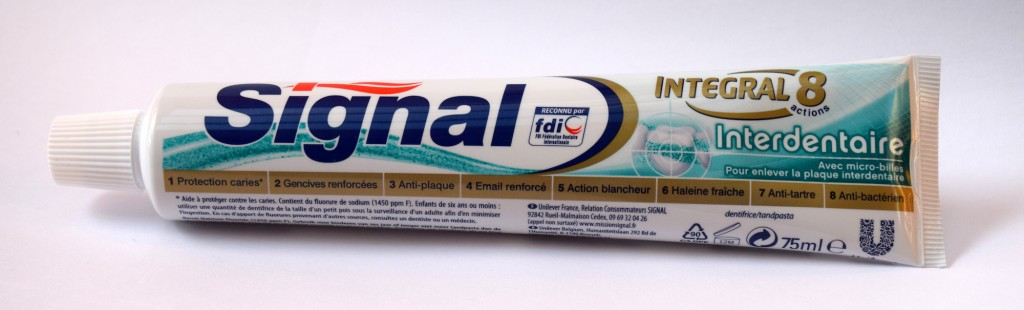 Dentifrice Signal Integral 8 Interdentaire tube