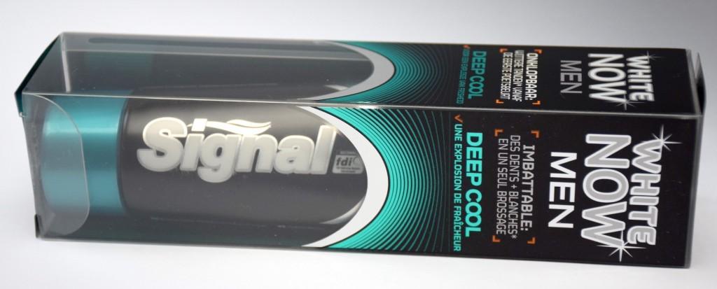 Dentifrice Signal White Now Men Deep Cool boite horizontale