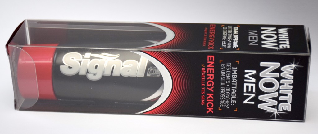 Dentifrice Signal White Now Men Energy Kick boite horizontale