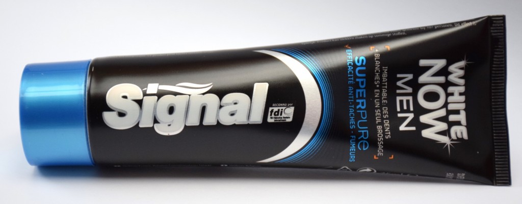 Dentifrice Signal White Now Men Super Pure tube