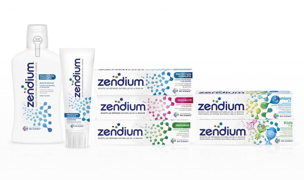 Gamme des dentifrices Zendium en France