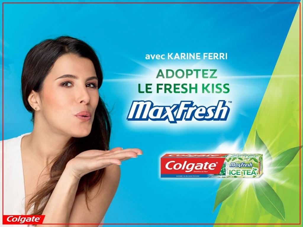 Karine Ferri Colgate MaxFresh Ice Tea