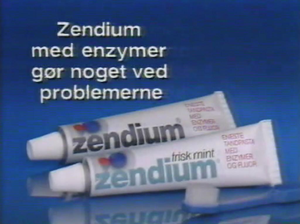 Zendium publicité 1991 dentifrice