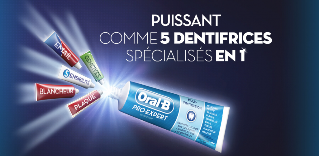 Dentifrices Oral-B Pro-Expert 5 en 1