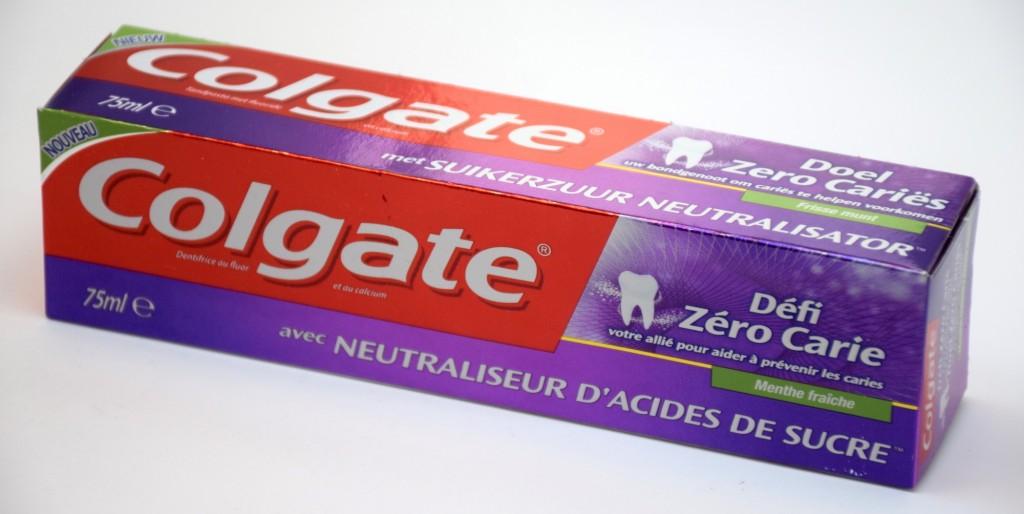 Dentifrice Colgate Défi Zero Carie Menthe Fraiche boite