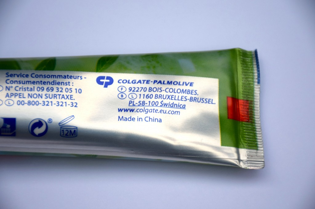 Dentifrice Colgate Made in China
