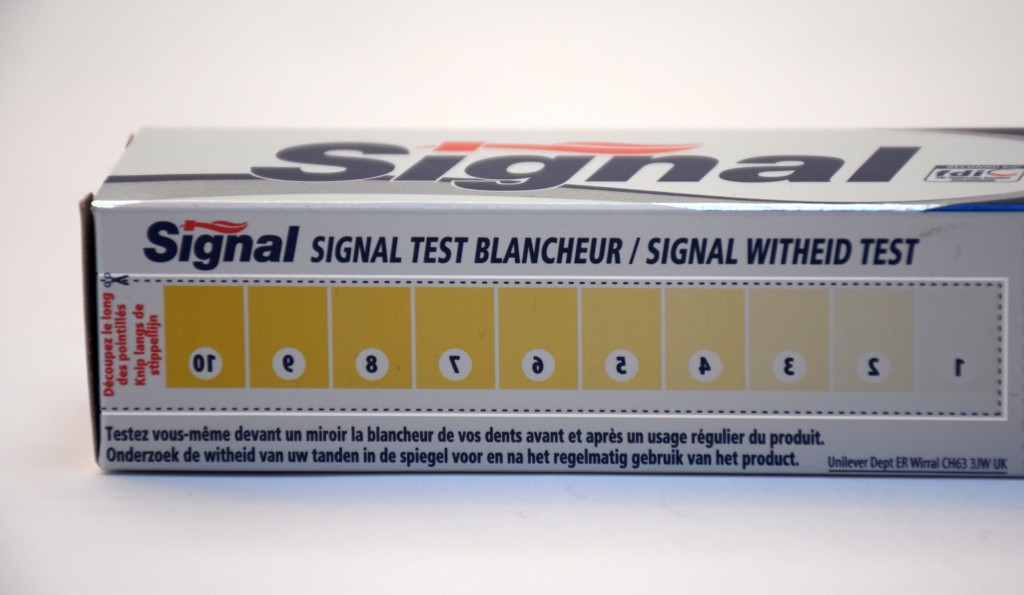 Dentifrice Signal Systeme Blancheur test blancheur