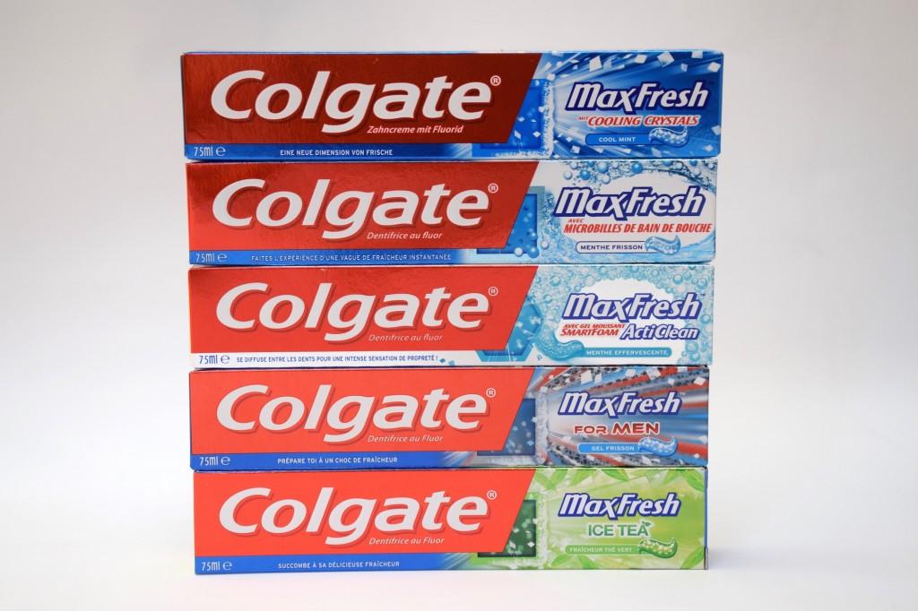 Gamme MaxFresh Dentifrice Colgate carton
