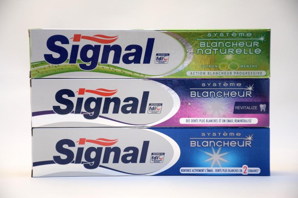Gamme Systeme Blancheur Dentifrice Signal boite